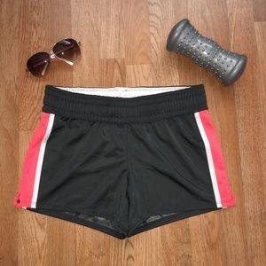 Women's dark gray athletic active wear shorts